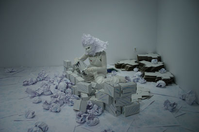 Snowball, performance still, 2009, courtesy of the artists.