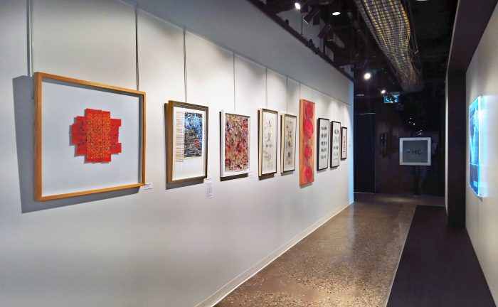 Selection of work on display.